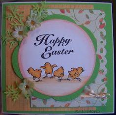 Chicks & Happy Easter (F1840 & E1657) card by Soili-Maria Seppala