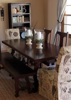 Pier 1 Indira Dining Table, Bench & Chairs
