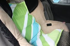 Car seat cooler...fabulous idea. Leave it in the carseat when you spend a hot day at the zoo etc and your child's seat is nice a cool when you come back! Such a good idea!
