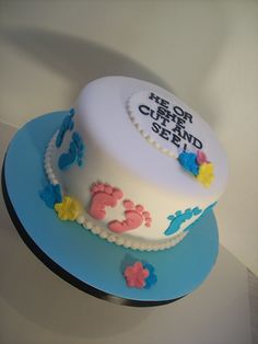 Baby Shower/Naming/Gender Reveal Cake Auckland $249 8 inch