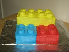 How to Make a Lego Cake  - Easy!  - No baking necessary.
