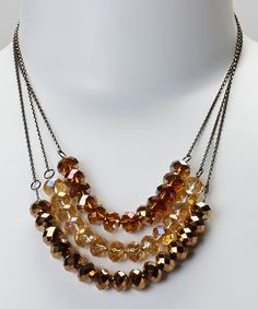 Take a look at this Topaz Triple Strand Necklace by Fantasy World Jewelry on #zulily today! Want to buy? Take another $5.00 off! Except my invite to join by clicking here http://www.zulily.com/invite/jrincker750