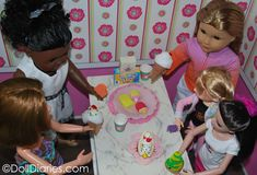 Doll Diaries Ice Cream Party - with free printables