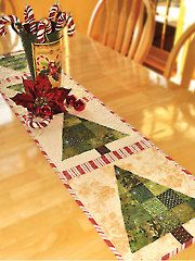 Patchwork Christmas Tree Table Runner Pattern from Annie's -- Order here: https://www.anniescatalog.com/detail.html?prod_id=112552&cat_id=1644