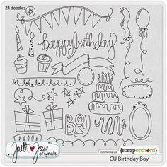 Birthday doodles, tarjetas de cumpleaños
