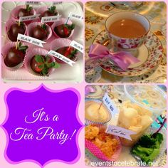 Tea Party Birthday - lots of cute, simple ideas for a sweet and sophisticated party! Events To Celebrate