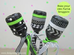 Make your own Purim Groggers water bottles