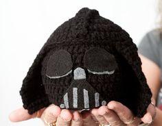 Crochet Darth Vader Baby Hat