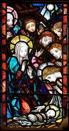 mari church, nativ window, stain glass, nativ scene, stained glass, nativity