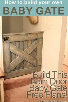 DIY Barn Door Baby Gate (Plans and photos!)