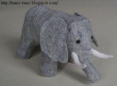craft, animals, elephant sewing patterns, stuf eleph, felt toys, stuffed animal patterns, eleph pattern, diy stuffed elephant, kid
