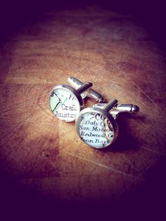 How cool are these map cufflinks?