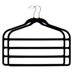 Joy Mangano 2-pk. 4 Bar Hangers Black.Opens in a new window