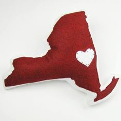 pillow red, york pillow, lake houses, heart, ohio