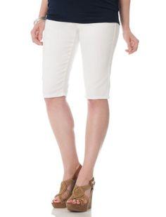 Motherhood Maternity: Celebrity Pink Jeans Secret Fit Belly(r) 5 Pocket Maternity Bermuda Shorts $34.98