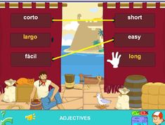 Adjectives traslation: English-Spanish #adjectives #online #games