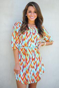 Drive Me Crazy Dress: Blue/Multi #shophopes