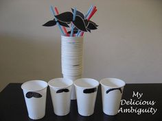 CUPS AND STRAWS  Inspiration for my Moustache Hen Party