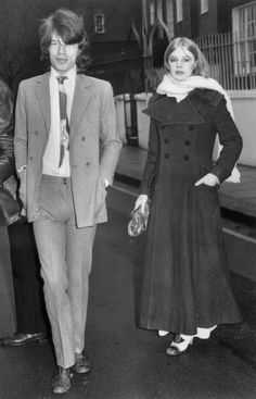 Mick Jagger and Marianne Faithfull.