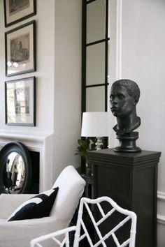 Black and white living room vignette -- John Jacob interiors ~~~`