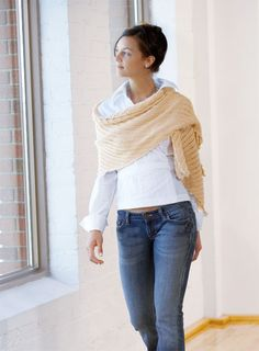 Rectangle Shawl knit