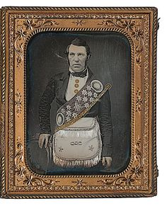 (c.1840s-50s) Odd Fellow in Fraternal Garb