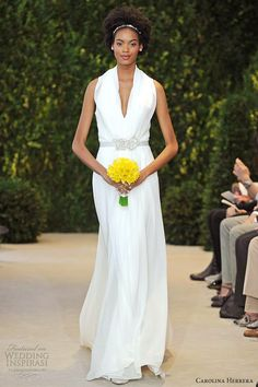 simple chic / carolina herrera spring 2014 bridal ava sleeveless column gown