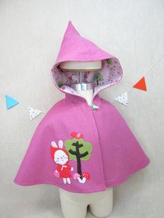 Children Capelet  Cape Hood Wool Girl Jacket by violastudio