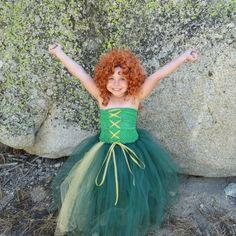 Newborn - Size 9 Brave Merida Inspired Tutu Dress