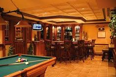 Definitely need a pool table and bar in the man cave! #rfdreamboard