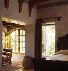 Straw Bale house home interiors, wine country, beams, bedrooms, strawbal hous, strawbal beauti, hous bedroom, straw bale house, interior walls