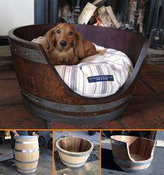 DIY Wine Barrel Dog Bed Tutorial