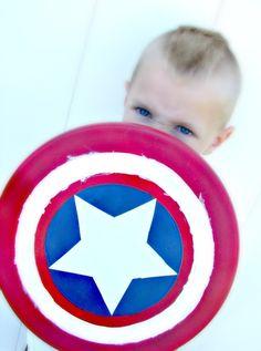 diy captain america shield...