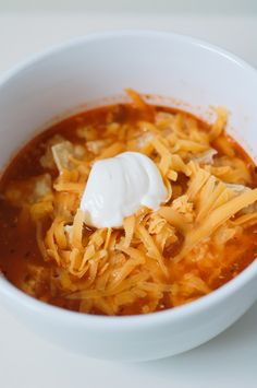 Baby, it's cold outside! Chicken Taco Soup.