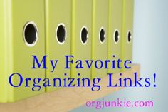 OMG...so many links to great organizing sites!