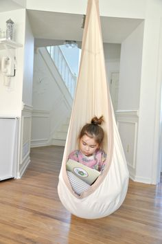 An indoor swing for kids! Joki Hanging Crows Nest on DESIGN + LIFE + KIDS