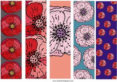 free printables: bookmarks with romantic roses