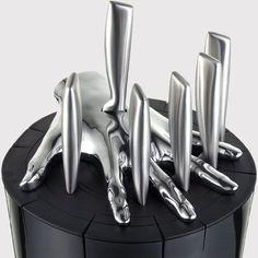 "Five-finger kitchen filet knife set...shades of the scene in ""Aliens""..."