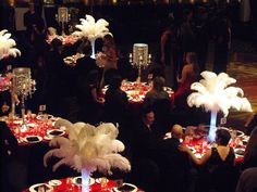 roaring twenties party decorations | The Roaring Twenties with Boston Consulting Group | Parkside Drive ... tablecloth, feather, twenti parti