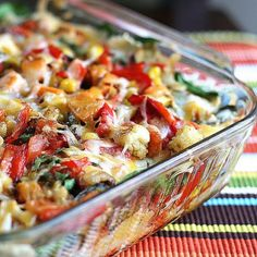 Stacked Roasted Vegetable Enchiladas - www.PerrysPlate.com
