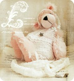 stuffed pink bear...adorable