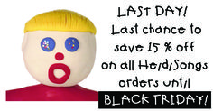 Okay, only a few more hours of 15% off... Tonight is IT! Promo code: APPLES .  http://www.heidisongs.com/