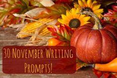 30 November Writing Prompts