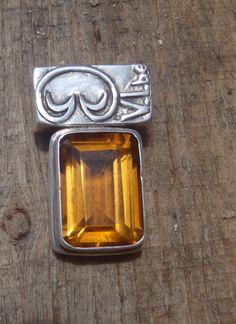 Emerald Cut Citrine Pendant  Limited edition, only on @Etsy #saintjohn #pendant #emeraldcut #usvi