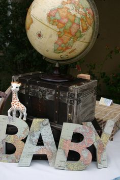 Great letter for an around the world baby shower #babyshower #decorations