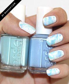 A spring-y, splatter manicure.