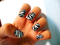 Hand painted Zebra design :) My favourite design I have painted so far!