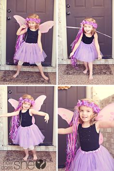 """One fairy Cute Party Remember: Fairy Halo with ribbon streamers, """"Thank you fairy much for coming"""""""