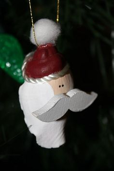 Santa Seashell Ornament