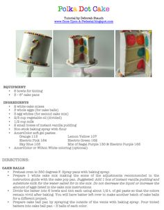 Once Upon A Pedestal: Hidden Polka Dots Recipe and Tutorial polka dots, dot recip, polkadot, food awesom, food find, dot cake, parti, dessert, birthday cakes